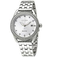 Citizen 西鐵城 FE6110-55A 銀色水晶女士優雅腕表