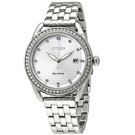 Citizen 西铁城 FE6110-55A 银色水晶女士优雅腕表