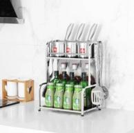 厨房瓶瓶罐罐不再凌乱:华尔斯 不锈钢 厨房置物架