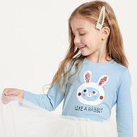 100%纯棉、柔软透气:巴拉巴拉 女童 长袖T恤