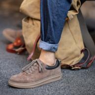 4.9分好評,柔軟豬皮鞋面 :Mr.A 男士秋冬潮流板鞋 休閑鞋