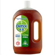 滴露Dettol消毒液1.8L 折后32元/瓶(亚马逊69.9元)