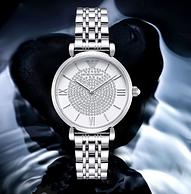 4倍差價:阿瑪尼 鑲鉆滿天星系列 女士手表 AR1925
