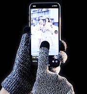 防滑+屏幕触控:主角院 加绒加厚触屏手套