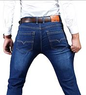2條 高彈面料,吉普盾 男士休閑牛仔褲