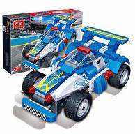 益智小顆粒拼裝、可動回力車:BanBao/邦寶 積木回力車模型玩具