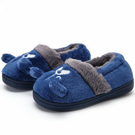 A類品質、防滑加絨:3雙 Balabala/巴拉巴拉 兒童居家拖鞋