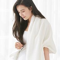 A类认证:140x70cm 375g 洁丽雅 纯棉加厚加大浴巾+纯棉毛巾