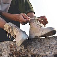 Mark Fairwhale/马克华菲 男士 高帮英伦风 牛皮工装鞋