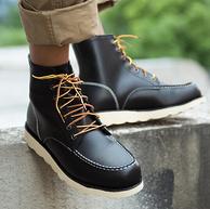 进口头层牛皮:网易严选 男士 方头牛皮工装靴