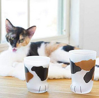 Prime會員專享、貓奴必拔:ADERIA 日本 石塚硝子 貓爪杯