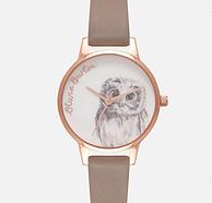 降100元:Olivia Burton 繪圖動物系列 貓頭鷹 女士腕表