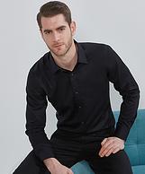 100s雙股長絨棉 DP水洗免燙 光澤感強:諾貝奧 男士長袖襯衫