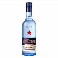 20点、口粮酒:红星 蓝瓶二锅头 43度 500ml