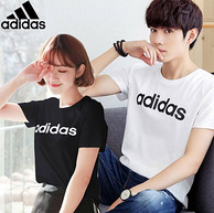 100%纯棉:Adidas/阿迪达斯 NEO系列短袖T恤