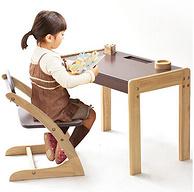 移動端專享:家逸 可升降實木寫字桌+椅子套裝