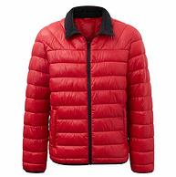 3折!商場同款在售:美特斯邦威 男士 秋季新款科技絨立領棉服外套