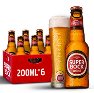 葡萄牙的茅台酒!超级波克 迷你装黄啤 200mlx6瓶