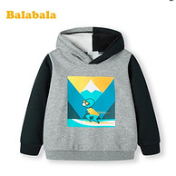 移動端專享、線下同款:巴拉巴拉 兒童 加絨連帽衛衣