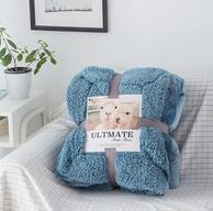 R.XKarina 瑪迪瑞娜 AB版羊羔絨加厚休閑蓋毯 150x200cm