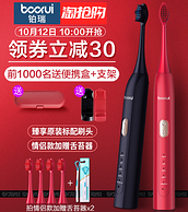 5刷頭+31000/分震動+5檔調節:鉑瑞 BR-X1 充電式電動牙刷