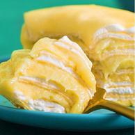 果肉达180g、孕妇可食:积莎 D24苏丹王榴莲千层蛋糕 6寸 450g