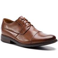 3倍差价!限41.5码:Clarks/其乐 男士 Becken Cap 正装皮鞋