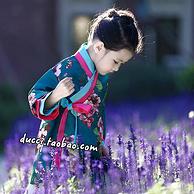 小兔桔子 19年新款 女童 复古风汉服 中式改良韩服裙