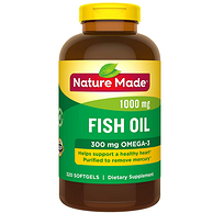 半年量:Nature Made 天維美 Omega-3魚油 320粒