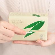 食品級、天然竹漿:良布 超韌母嬰本色抽紙 3層100抽x24包