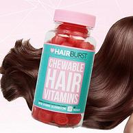 白菜价!英国销冠,防脱发促生长:Hairburst 生发固发复合维生素软糖 60粒
