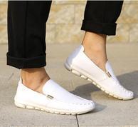 商場同款、二層牛皮+豬皮:Romon/羅蒙 19年秋季新款 男士真皮休閑鞋