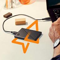 今晚0点,密码保护+自动备份:WD/西部数据 4TB 2.5英寸USB3.0移动硬盘