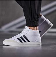 双11预售:阿迪达斯 男子高帮休闲运动鞋 小白鞋
