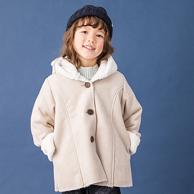 A類材質、敲口耐!日本人氣童裝 petitmain 女童 日系加絨麂皮外套