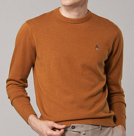 双11预售:100%精纺羊毛,暇步士  男士圆领针织衫