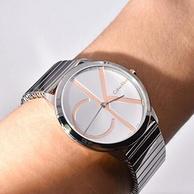 5倍差价!Calvin Klein小款男士不锈钢石英手表