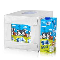 值哭、72斤波兰牛奶! 1Lx12盒x3件  white silk 怀丝 低脂牛奶(常温奶)