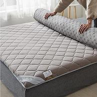 60支贡缎长绒棉,30%轻量化:紫罗兰 柔软加厚 全棉贡缎床垫1.5m