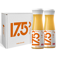 新低!330mlx4瓶x6件,农夫山泉 17.5°NFC鲜橙汁 100%果汁 礼盒装