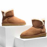 双11预告:羊皮毛一体,考拉工厂店 矮靴经典款雪地靴