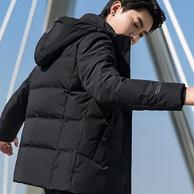 11日0点:Yaloo 雅鹿 2019款 男士连帽短款羽绒服