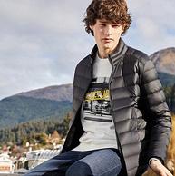 IFashion店鋪,90%鴨絨:森馬 男士 輕薄時尚短款羽絨服