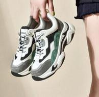 增高6.5厘米、真皮拼接!珂卡芙 厚底老爹鞋