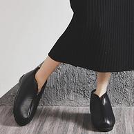 看着就暖和,圣丁努 老北京皮棉鞋 居家保暖棉拖鞋