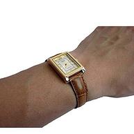 CASIO卡西歐 LTP-1234PGL-7A 女士皮革石英手表