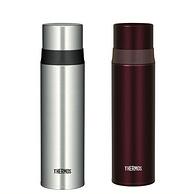 THERMOS 膳魔師 FFM-500 不銹鋼真空保溫杯 銀色+酒紅色 500ml