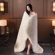 100%澳洲羊毛,兰序家纺 加厚保暖双人羊毛床垫1.5x200cm