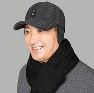 商场同款:日记密码 中老年男士 冬季防风保暖护耳棒球帽 鸭舌帽 14.9元起包邮
