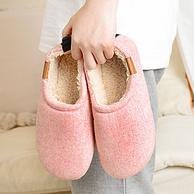 多层复合鞋底+防滑+珊瑚绒内衬!kenroll 科柔 情侣包跟软厚底棉拖鞋